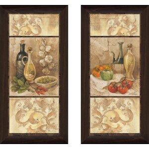 'Tuscan kitchen i' 2 Piece Framed Print Set by Fleur De Lis Living