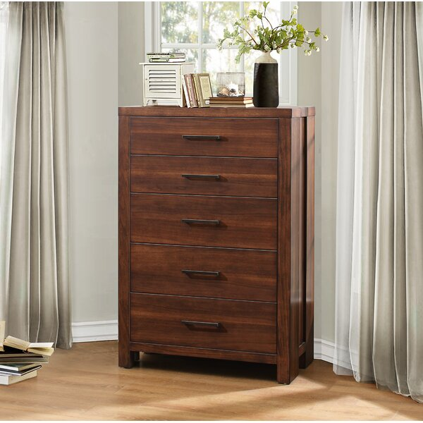 Broadwater 5 Drawers Standard Chest by Union Rustic