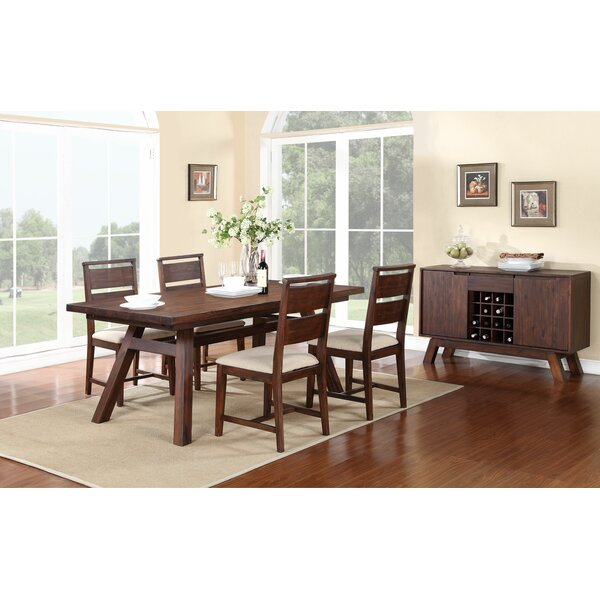 Damiani 5 Piece Extendable Solid Wood Dining Set by Brayden Studio