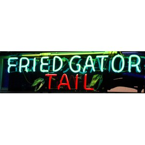 'Fried Gator Tail' Photographic Print on Wrapped Canvas by Graffitee Studios