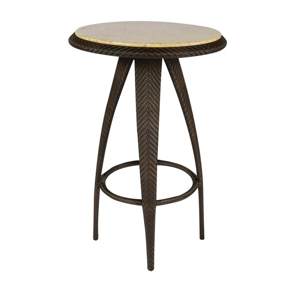 All-Weather Bali Bar Table with Stone Top by Woodard