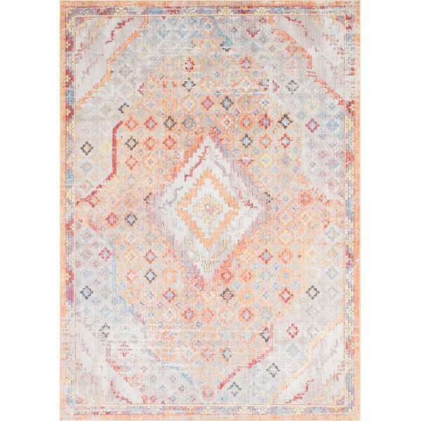Gomez Orange/Gold Area Rug by Bungalow Rose