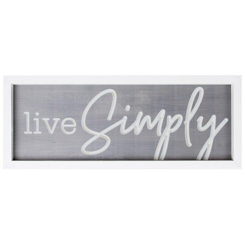 Gracie Oaks Live Simply Wall Décor   Wayfair