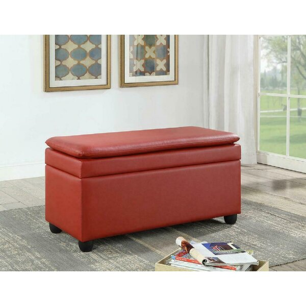 Rameau Faux Leather Flip Top Storage Bench by Latitude Run