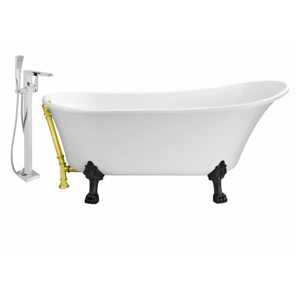 67 x 32 Clawfoot Soaking Bathtub by Wildon Home ®