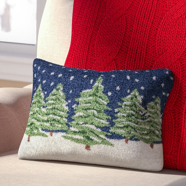 Evergreens Winter Pillow Cover by Three Posts
