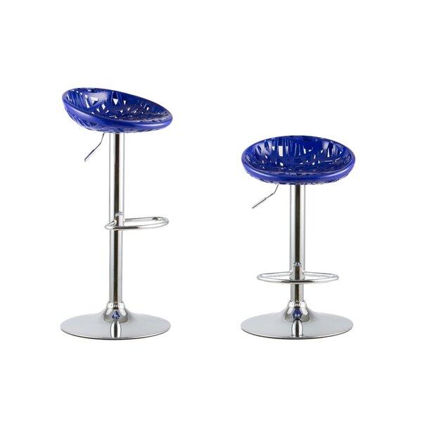 Collete Adjustable Height Swivel Bar Stools (Set of 2) by Orren Ellis Orren Ellis