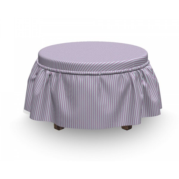 Candy Striped Backdrop Ottoman Slipcover (Set Of 2) By East Urban Home