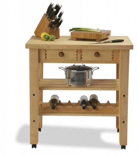 Arts And Crafts Kitchen Island With Butcher Block Top By Snow River Best Choices