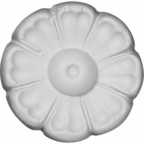 Flower 2 3/8H x 2 3/8W x 3/4D Rosette Applique by Ekena Millwork