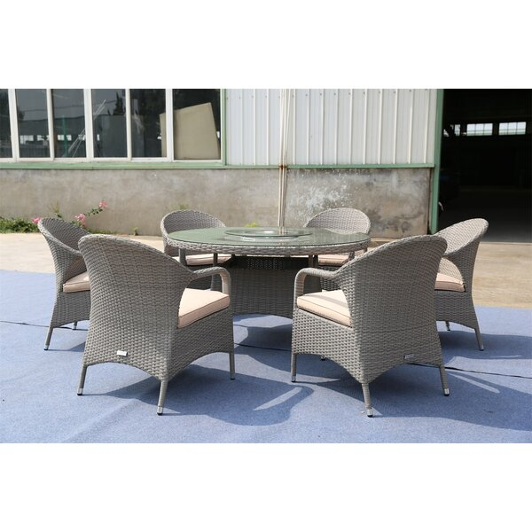 Sunnydale 7 Piece Dining Set with Cushions Bayou Breeze W003083670