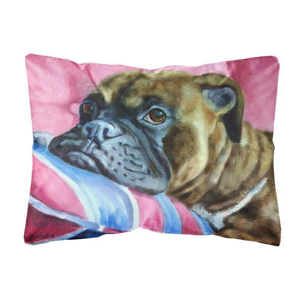 Mclain Boxer Fabric Indoor/Outdoor Throw Pillow by Winston Porter