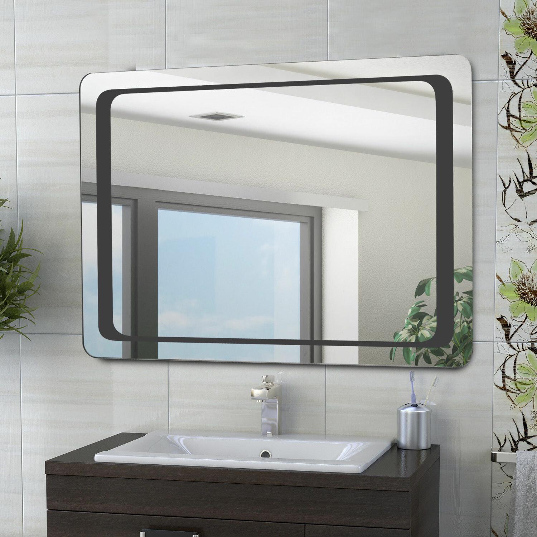 Homcom Illuminated Bathroom Mirror & Reviews | Wayfair.co.uk