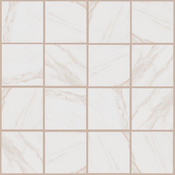 Bradwell 12 x 12 Porcelain Field Tile in Bianco Cararra by Mohawk Flooring