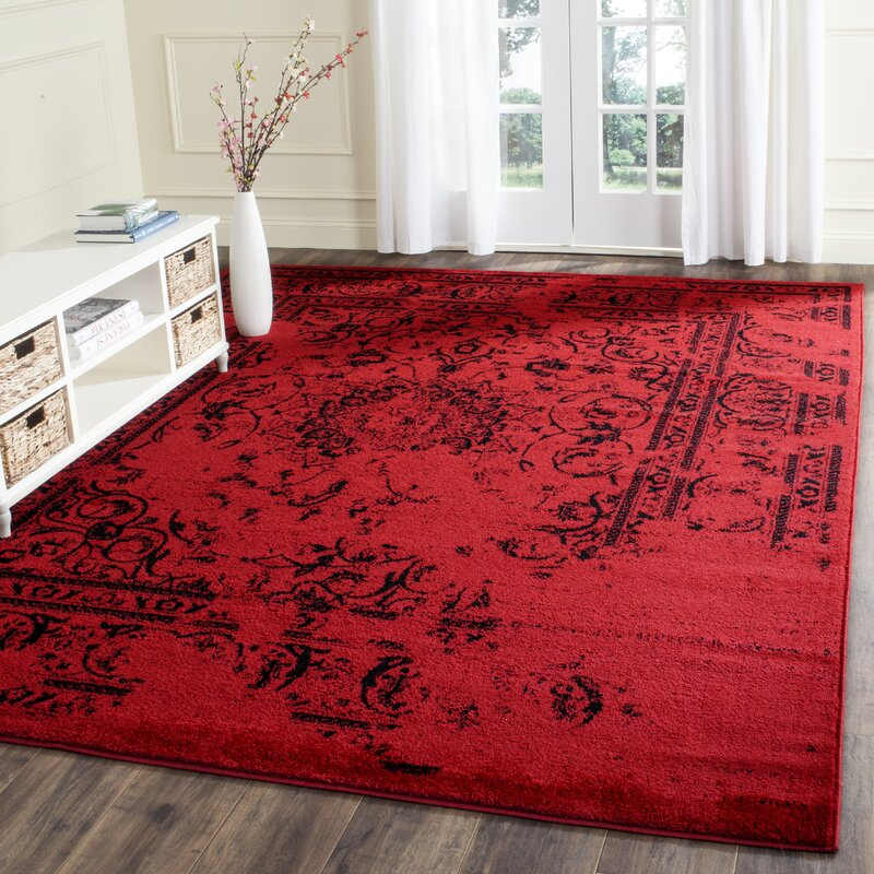 Costa Mesa Red/Black Area Rug