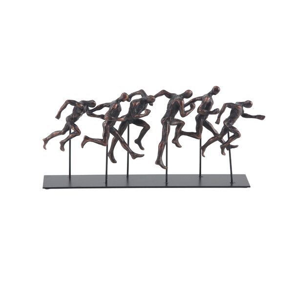 Hepp Traditional Running Men Resin Figurine by Ebern Designs