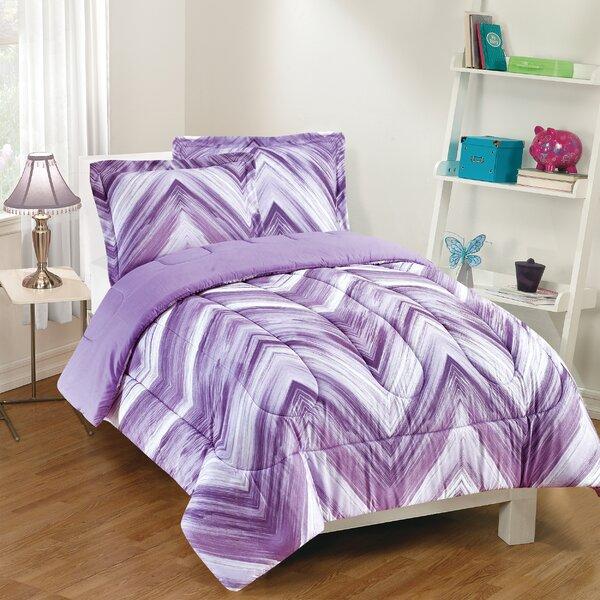 Bemis Reversible Comforter Set by Harriet Bee