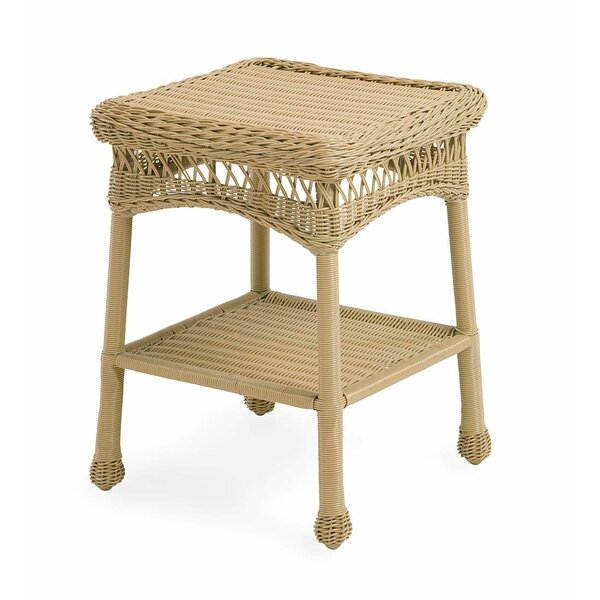 Tangier Wicker/Rattan Side Table by Plow & Hearth