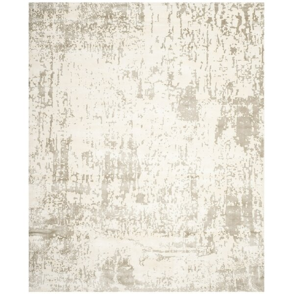 Maxen Hand-Knotted Ivory/Gray Area Rug by 17 Stories