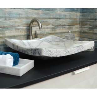 Price comparison Textured Stone Rectangular Vessel Bathroom Sink By Onyx Marble Designs