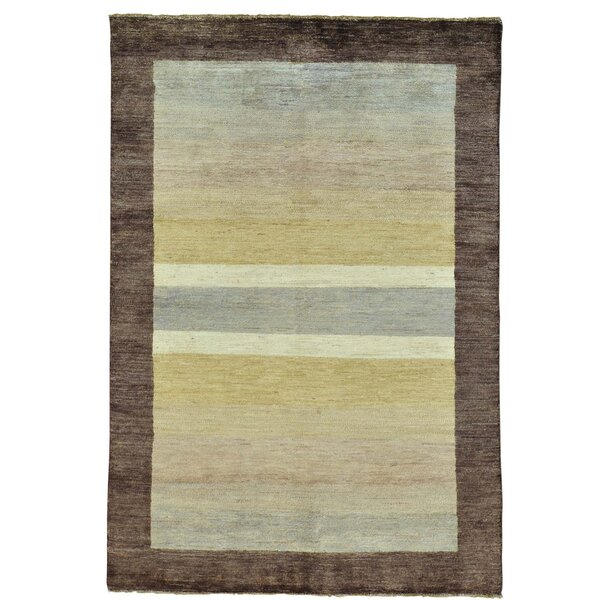 One-of-a-Kind Bagby Hand-Knotted Chocolate Brown/Ivory Area Rug by Isabelline