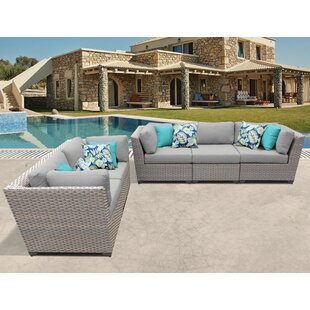 Florence 5 Piece Sofa Seating Group with Cushions ByTK Classics