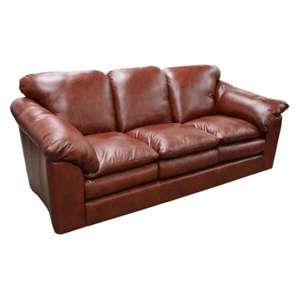 Oregon Leather Sofa by Omnia Leather