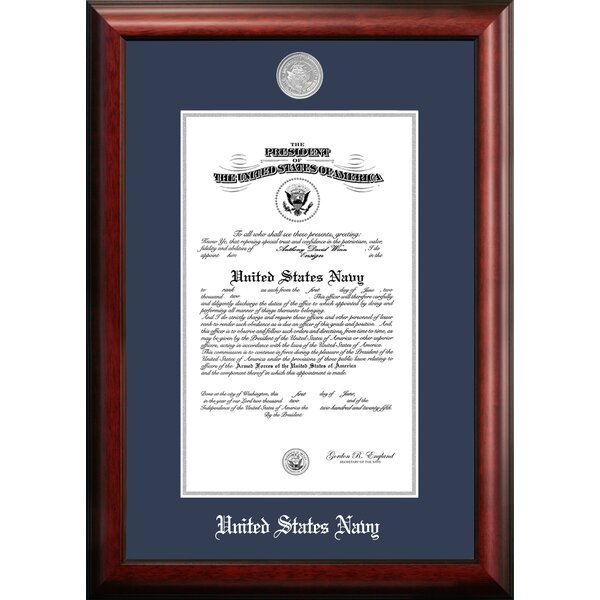 Navy Certificate Picture Frame by Patriot Frames