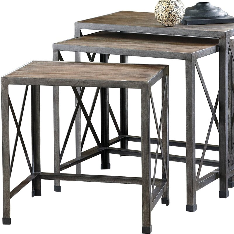 Nesting Tables august grove doreen 3 piece nesting tables & reviews | wayfair