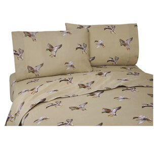 Romer Duck Approach 200 Thread Count Percale Sheet Set By Loon Peak