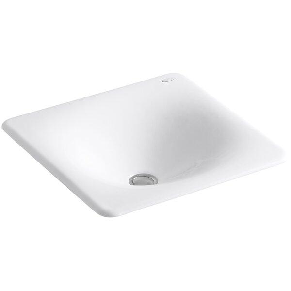 Iron Tones Metal Rectangular Drop-In Bathroom Sink by Kohler