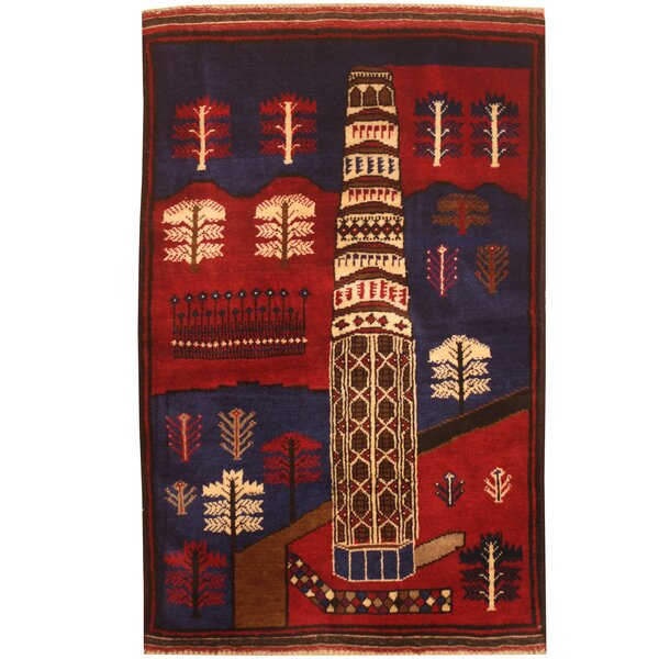 Prentice Hand-Knotted Red/Ivory Area Rug by Isabelline