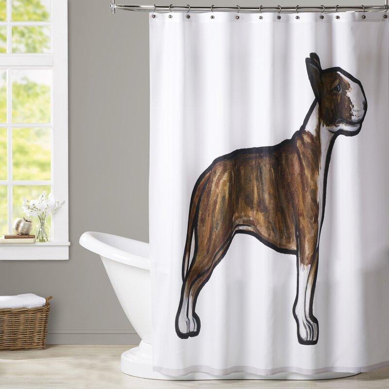 Spiro English Bulldog 3 Shower Curtain
