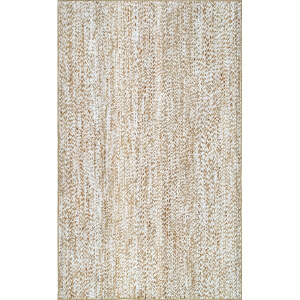 Feliciano Hand-Loomed Beige Area Rug by Bungalow Rose