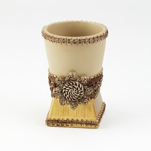 Buy luxury Braided Medallion Tumbler & Toothbrush Holder ByAvanti Linens