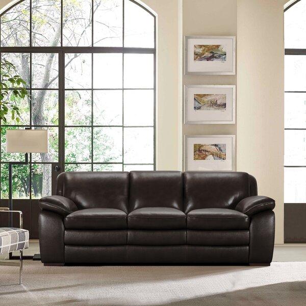 Talon Leather Sofa by Latitude Run