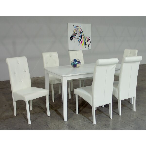 Dita 7 Piece Solid Wood Dining Set by Warehouse of Tiffany