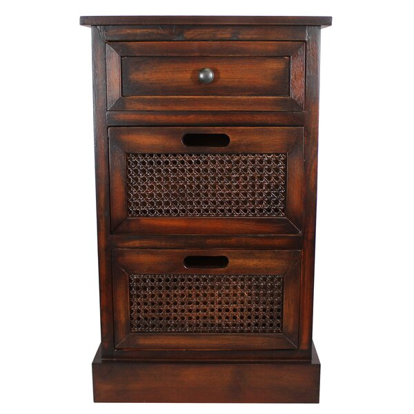 Swanage 3 Drawer Nightstand by World Menagerie World Menagerie