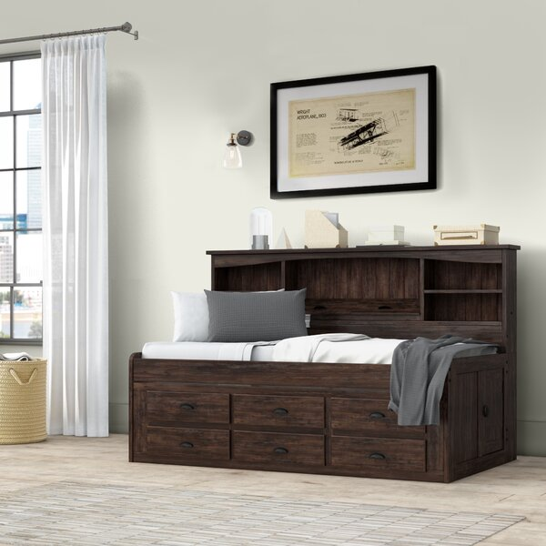 Marea Twin Mate's And Captains's Bed With Drawers And Bookcase By Birch Lane™ Heritage