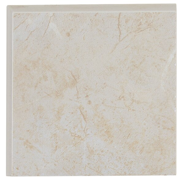 Florentine 3 x 3 Ceramic Bullnose Tile Trim in Argento by Daltile