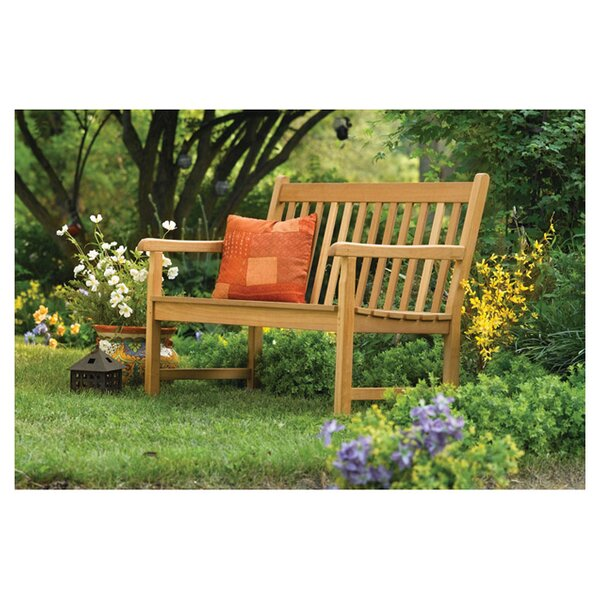 Harpersfield Rustic Natural Wood Garden Bench by Beachcrest Home