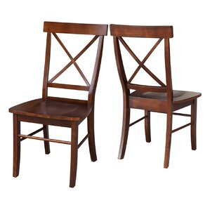 Attractive Sawyer Cross Back Solid Wood Dining Chair (Set Of 2)