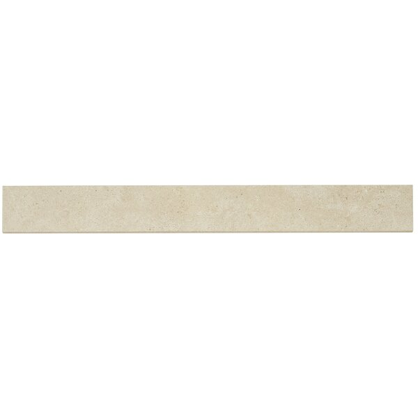 Haut Monde 24 x 3 Porcelain Bullnose Tile Trim in Leisure Beige by Daltile