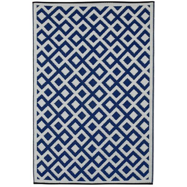 Reva Hand Woven Blue Indoor/Outdoor Area Rug by Zipcode Design