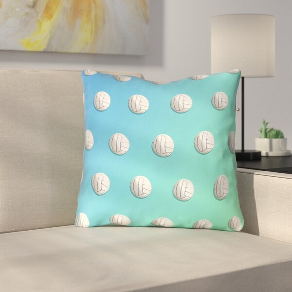 Ombre Volleyball Outdoor Throw Pillow