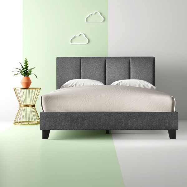 #2 Gianna Queen Upholstered Platform Bed By Hashtag Home No Copoun