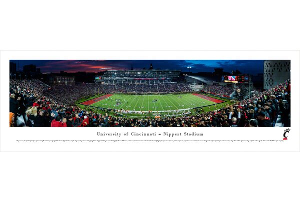NCAA Cincinnati, University of - Football by Christopher Gjevre Photographic Print by Blakeway Worldwide Panoramas, Inc