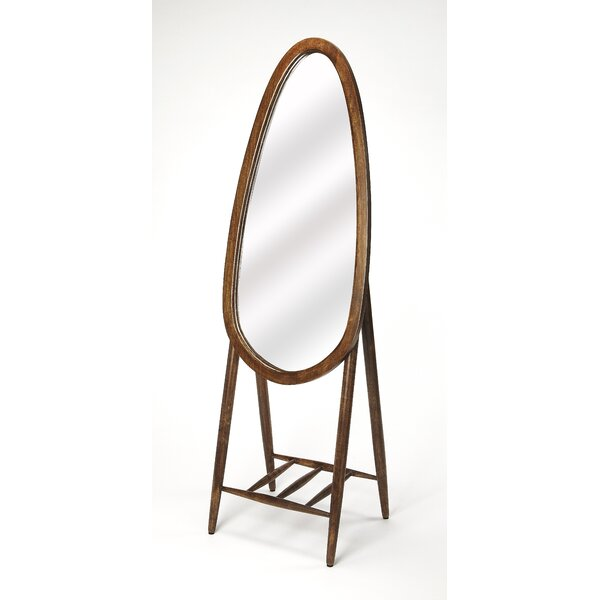 Rider Oval Floor Cheval Mirror by Wrought Studio