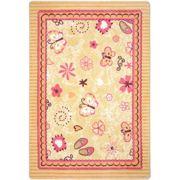 Beige/Pink Area Rug by The Conestoga Trading Co.