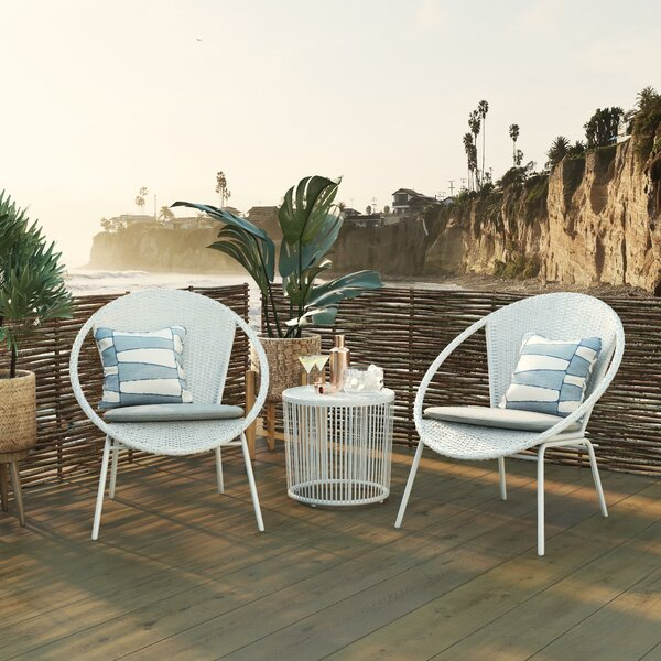 Sia Bistro 3 Piece Seating Group by CosmoLiving by Cosmopolitan CosmoLiving by Cosmopolitan